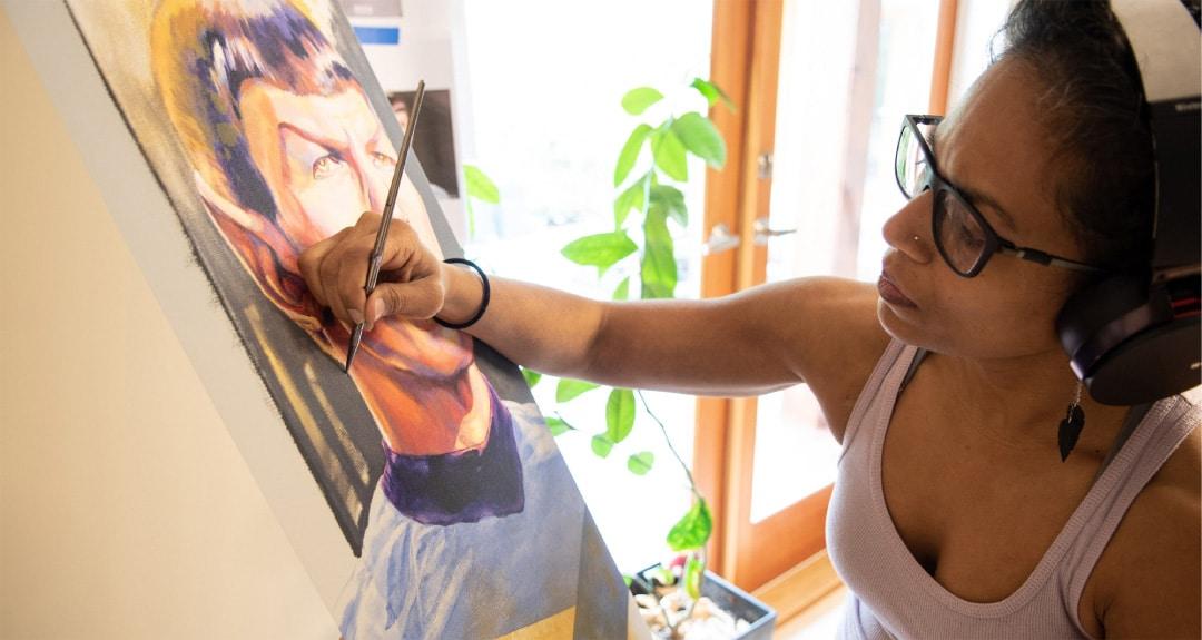 Kavita drawing Spock