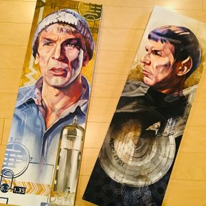 Spock as played by Leonard Nimoy painted by Kavita Maharaj